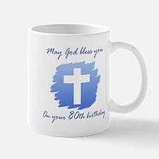 Christian 80th Birthday Mug