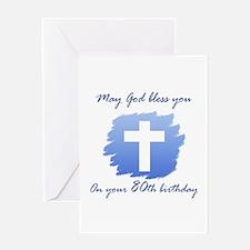 Christian 80th Birthday Greeting Card