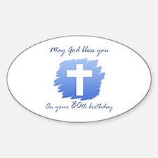 Christian 80th Birthday Decal