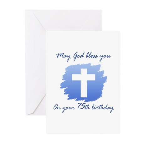 Christian 75th Birthday Greeting Cards (Pk of 20)
