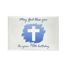 Christian 70th Birthday Rectangle Magnet