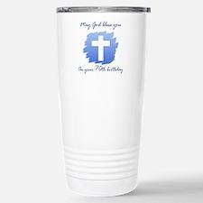 Christian 70th Birthday Stainless Steel Travel Mug