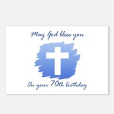 Christian 70th Birthday Postcards (Package of 8)