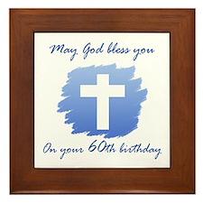 Christian 60th Birthday Framed Tile