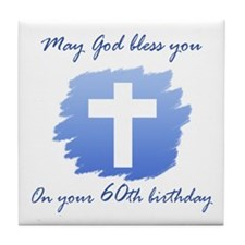 Christian 60th Birthday Tile Coaster