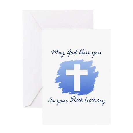 Christian 50th Birthday Greeting Card