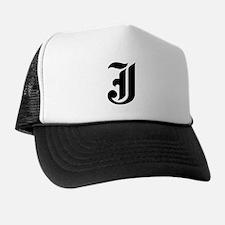 "Letter ""J"" (Gothic Initial) Trucker Hat"