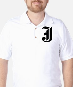 """Letter """"J"""" (Gothic Initial) T-Shirt"""