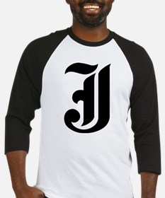 """Letter """"J"""" (Gothic Initial) Baseball Jersey"""