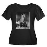 Tower Theatre Women's Plus Size Scoop Neck Dark T-