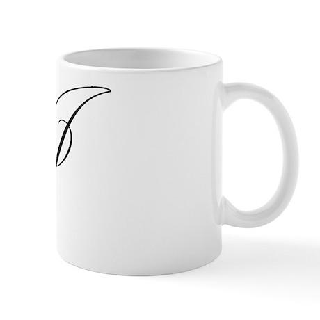 "Letter ""J"" (Cursive Initial) Mug"