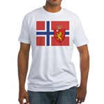 Norway Flag / Norwegian Flag Fitted T-Shirt