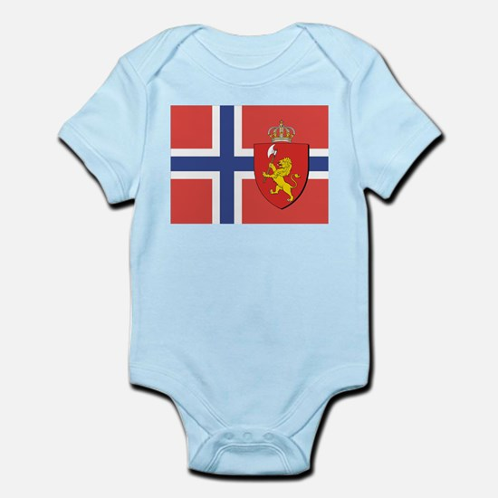 Norway Flag / Norwegian Flag Infant Creeper