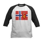 Norway Flag / Norwegian Flag Kids Baseball Jersey