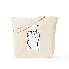 """Letter """"I"""" (Sign Language) Tote Bag"""