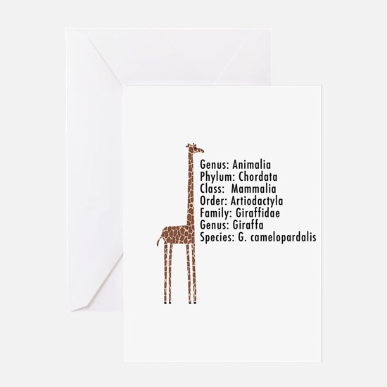 giraffe - with text Greeting Card
