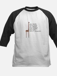 giraffe - with text Kids Baseball Jersey