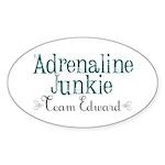 Adrenaline Junkie Sticker (Oval 10 pk)