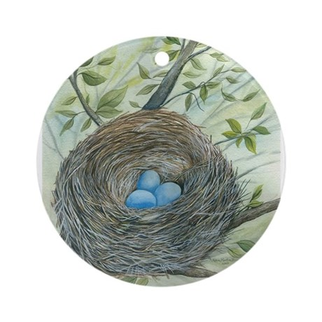 Robin's Nest Ornament (Round)
