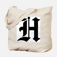 "Letter ""H"" (Gothic Initial) Tote Bag"