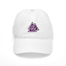 Purple Valknut Baseball Cap