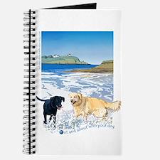 Playful Dogs On Beach Journal