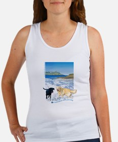 Playful Dogs On Beach Women's Tank Top
