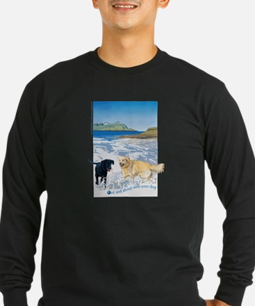 Playful Dogs On Beach T