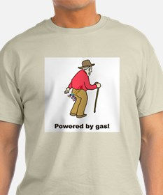 Powered by Gas Ash Grey T-Shirt
