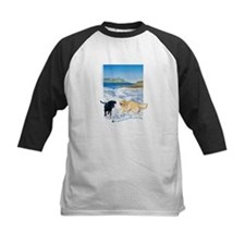 Playful Dogs On Beach Tee