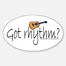 """""""Got Rhythm?"""" Guitar Oval Decal"""
