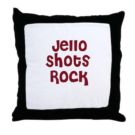 Jello Shots Rock Throw Pillow