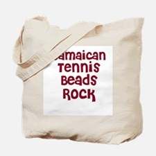 Jamaican Tennis Beads Rock Tote Bag