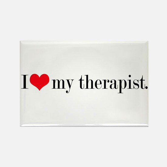 I heart my therapist Rectangle Magnet
