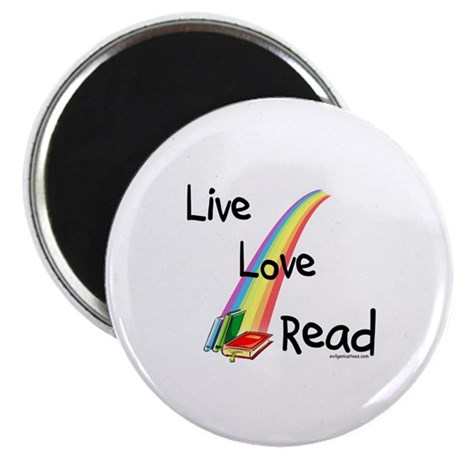 "live, love, read 2.25"" Magnet (10 pack)"