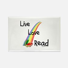live, love, read Rectangle Magnet