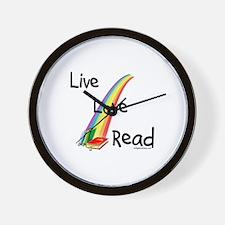 live, love, read Wall Clock