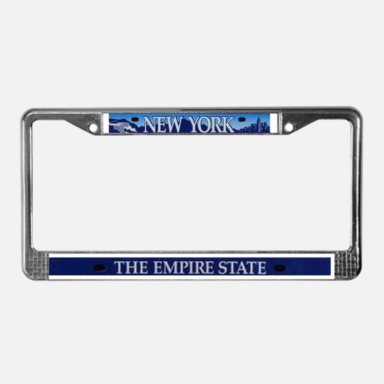 new yorkempire state license plate frame