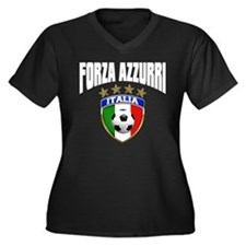 Forza Azzurri 2012 Women's Plus Size V-Neck Dark T