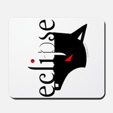 Eclipse Moon Wolf by Twibaby Mousepad