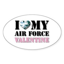 Air Force Valentine Oval Decal