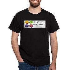 I Love my Goldendoodle Black T-Shirt