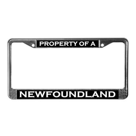 Property of Newfoundland License Plate Frame