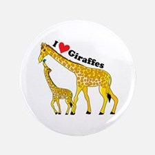 "I Love Giraffes 3.5"" Button"