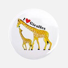 """I Love Giraffes 3.5"""" Button (100 pack)"""