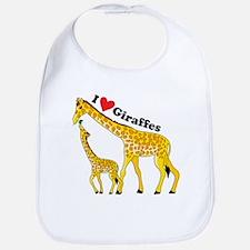 I Love Giraffes Bib