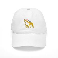 I Love Giraffes Baseball Cap