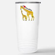I Love Giraffes Travel Mug