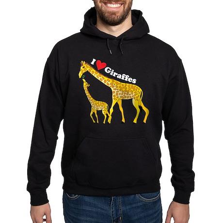 I Love Giraffes Hoodie (dark)