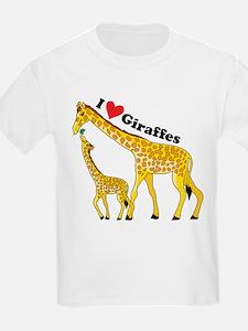 I Love Giraffes T-Shirt
